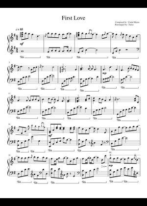 Utada Hikaru sheet music free download in PDF or MIDI on MuseScore com
