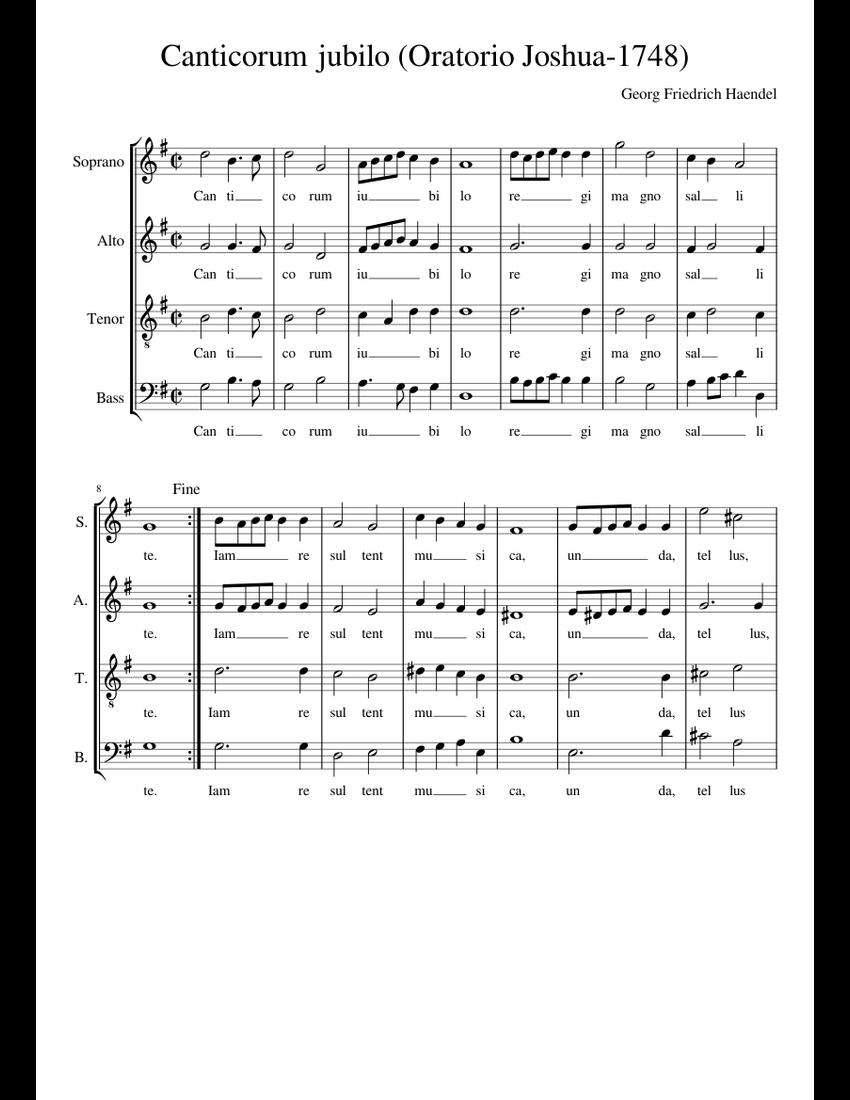 canticorum jubilo pdf piano