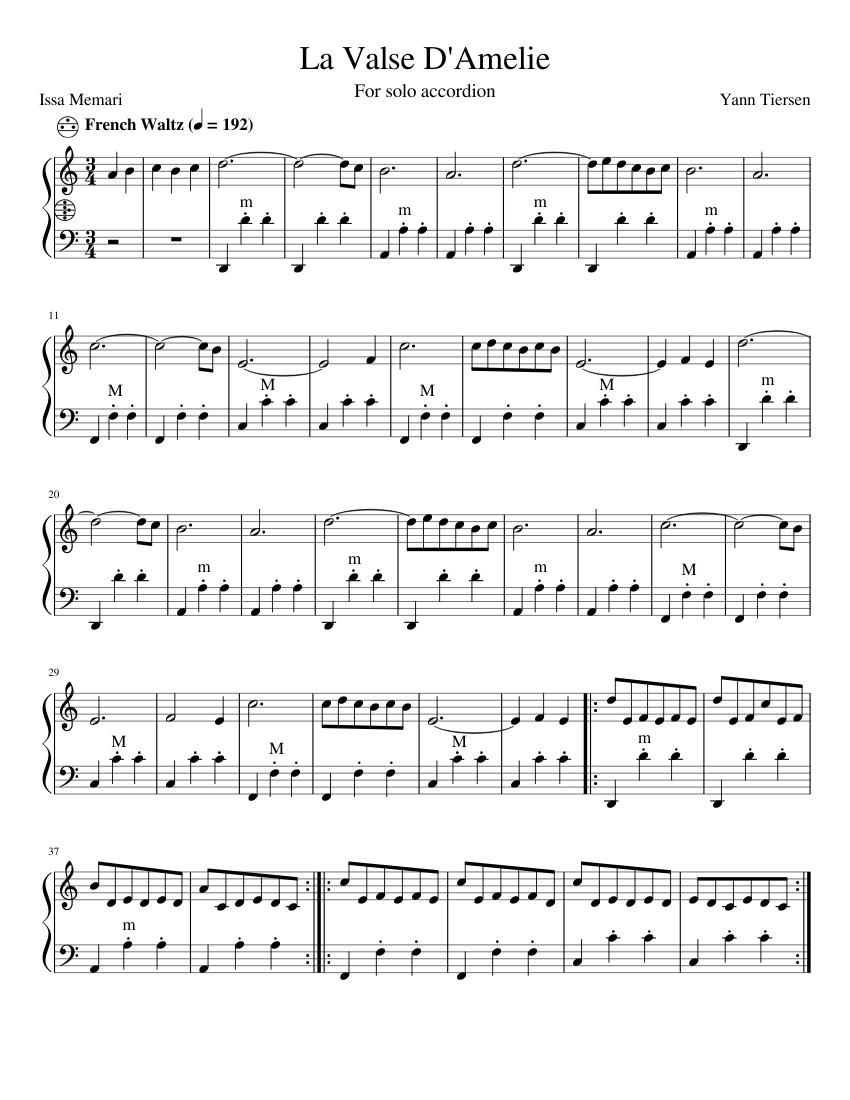 el vals de amelie piano pdf