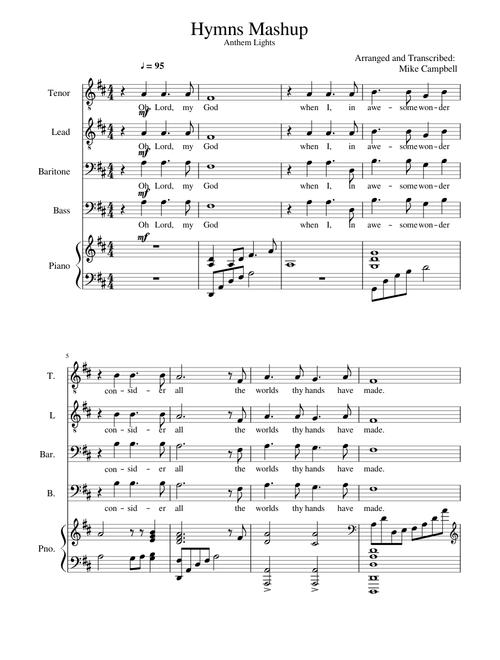Sheet Music For Piano With 5 Instruments Musescore Com