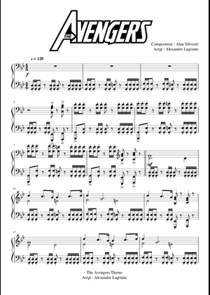 The Avengers (Theme) - Piano sheet music for Piano download
