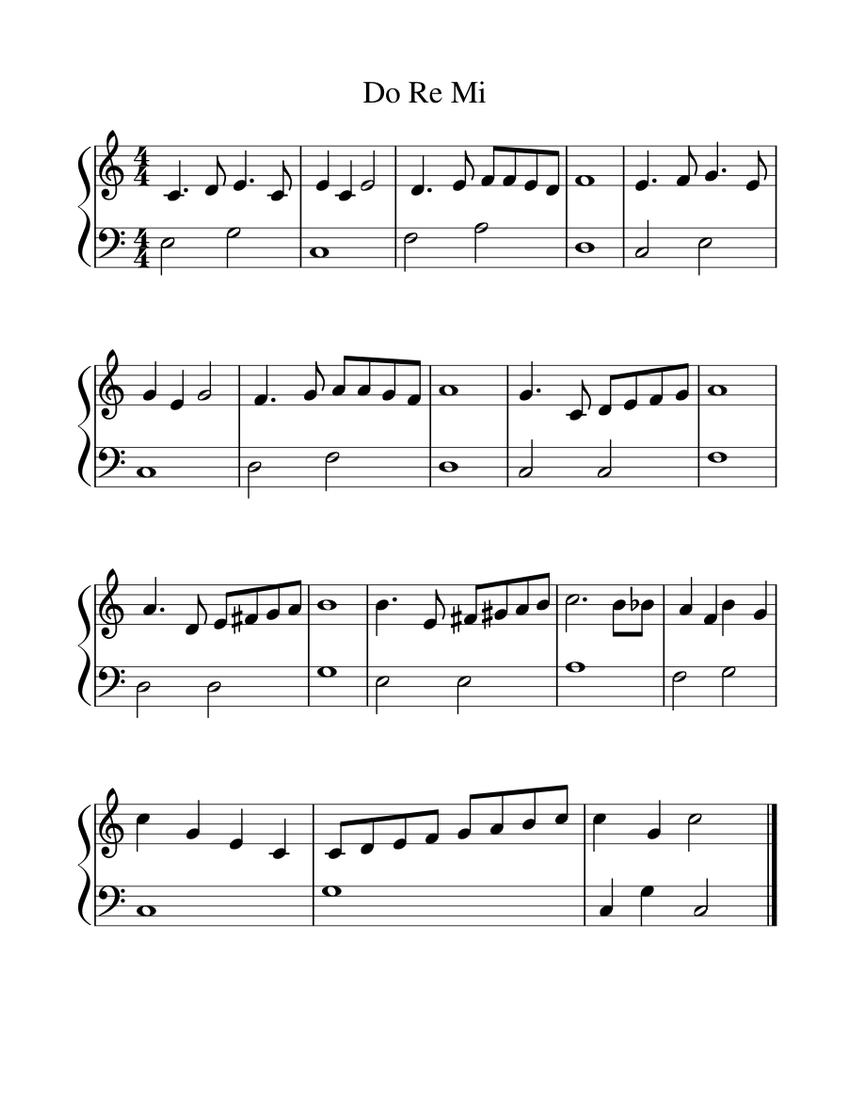 do a deer sheet music free
