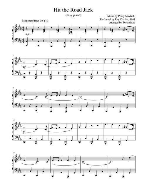 easy piano music popular songs free