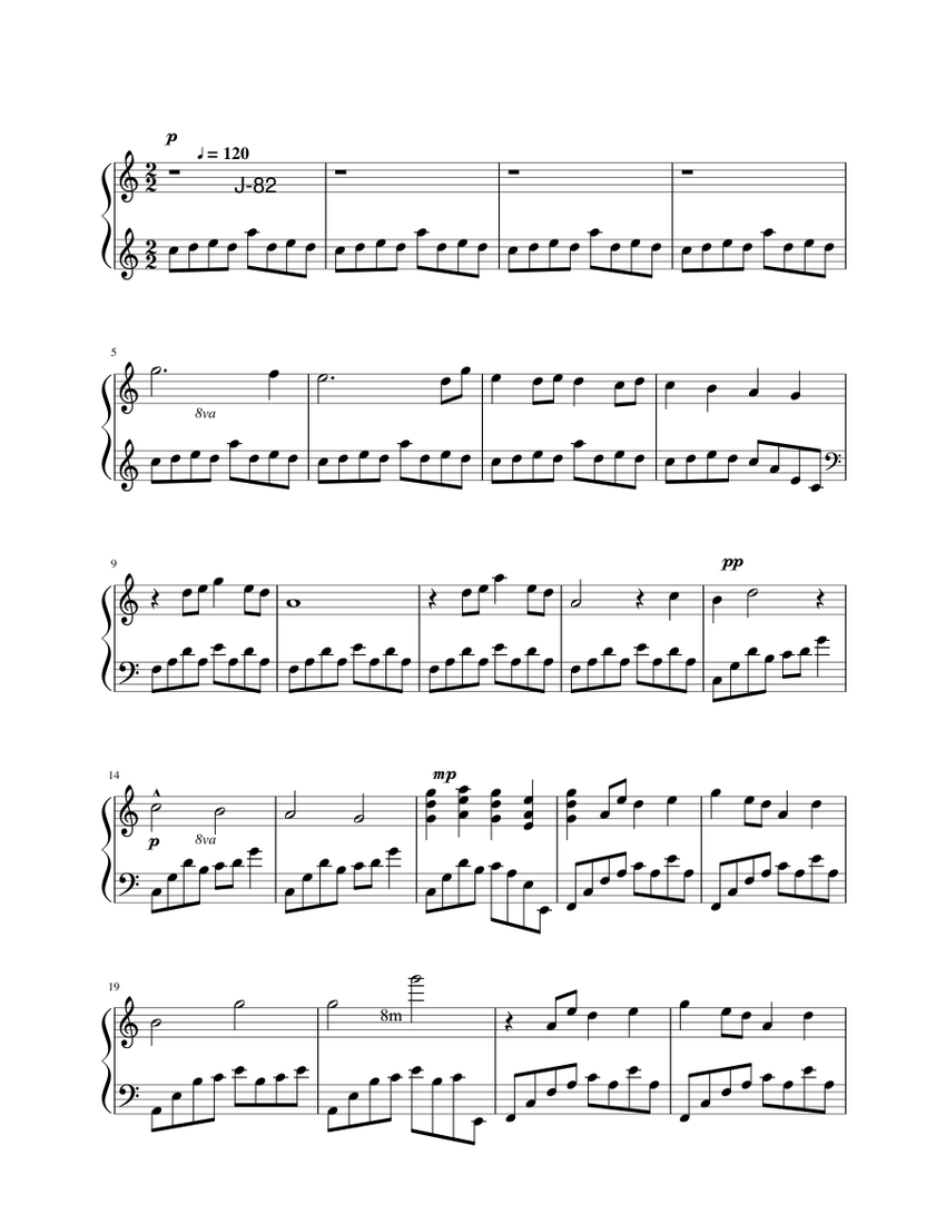 Only Yesterday Main Theme OP sheet music for Piano download