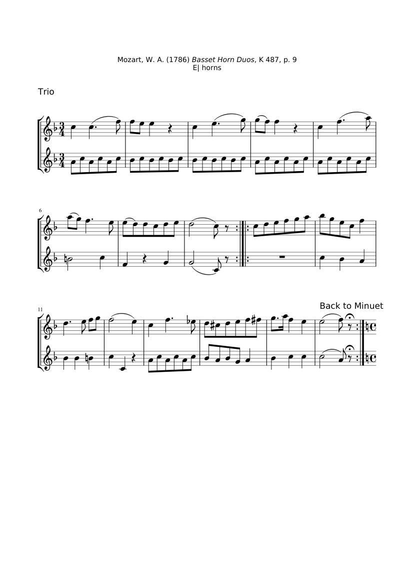 Dodici duetti No.10 - Score