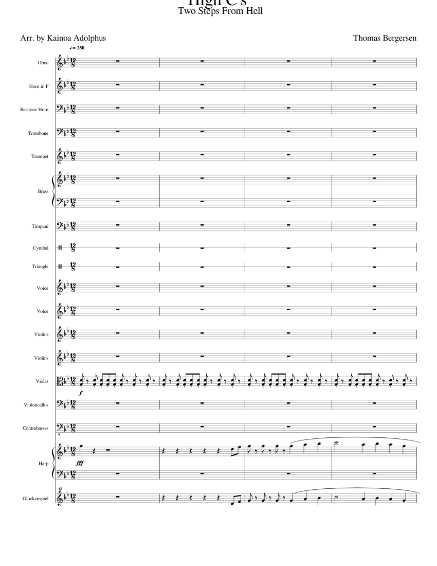 High C's by Thomas Bergersen sheet music for Oboe, French