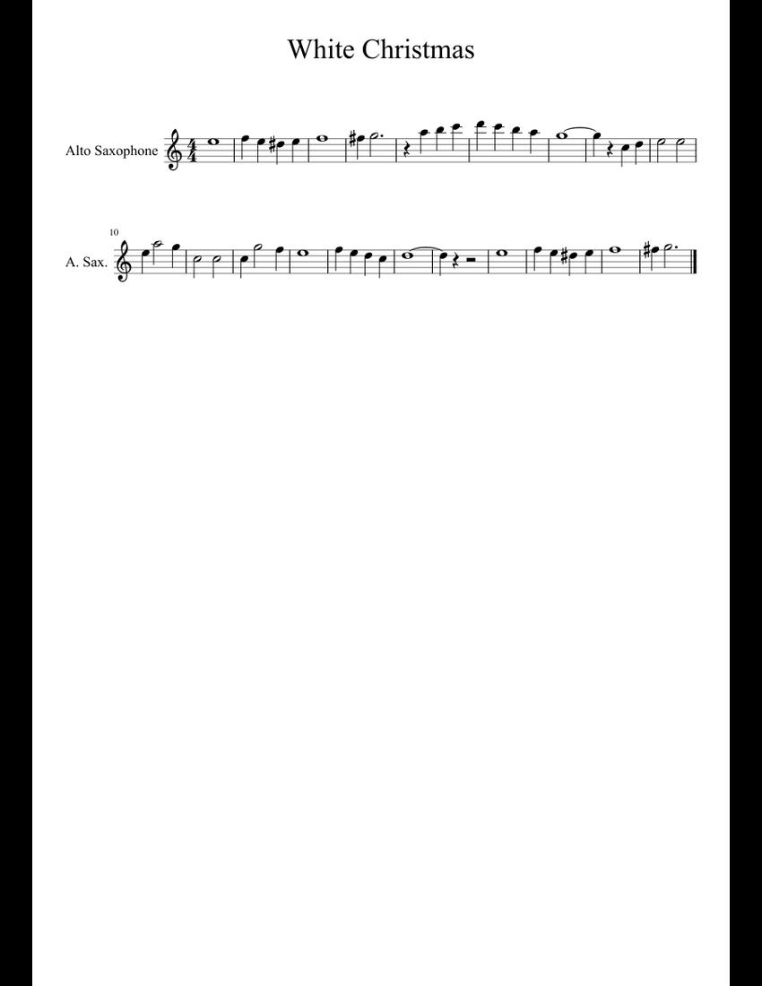 White Christmas-Alto Sax sheet music for Alto Saxophone download ...
