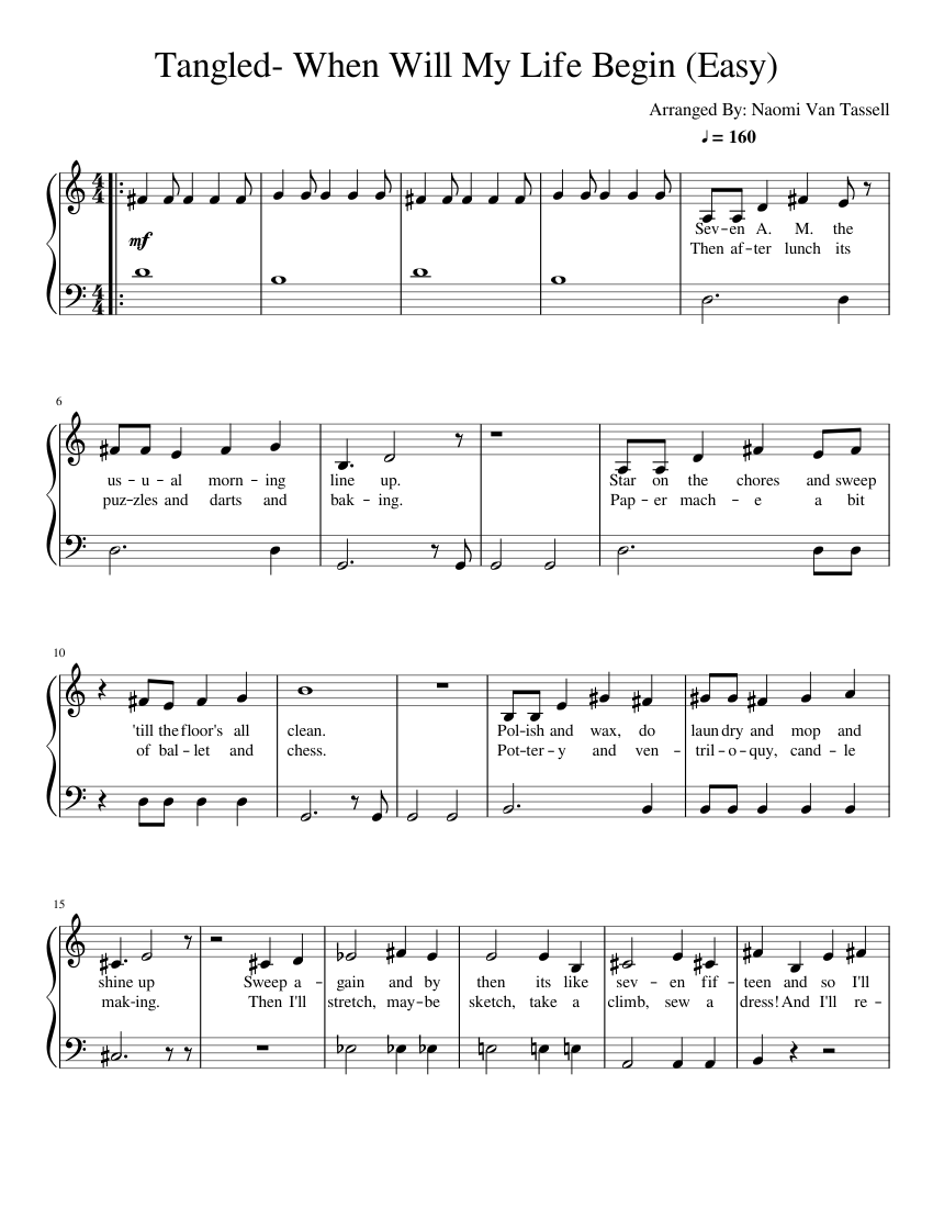 Top Five Easy Piano Songs Sheet Music With Letters - Circus
