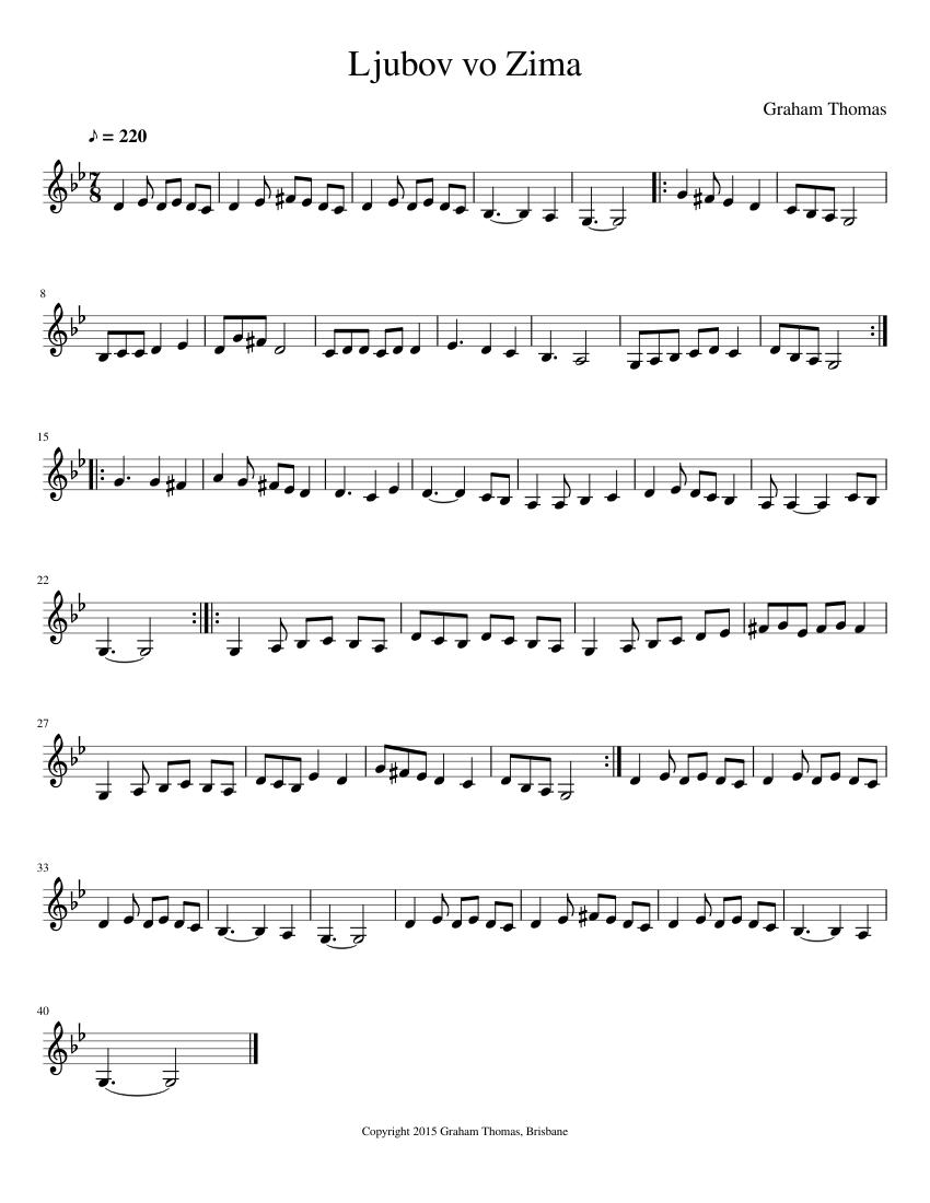 Zima - Score