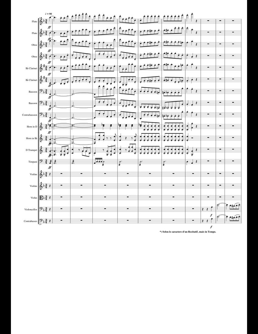 Beethoven : Symphony No.9, Op.125 Mvt.4 (Part 1) sheet