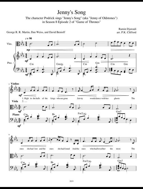 Jenny's Song (