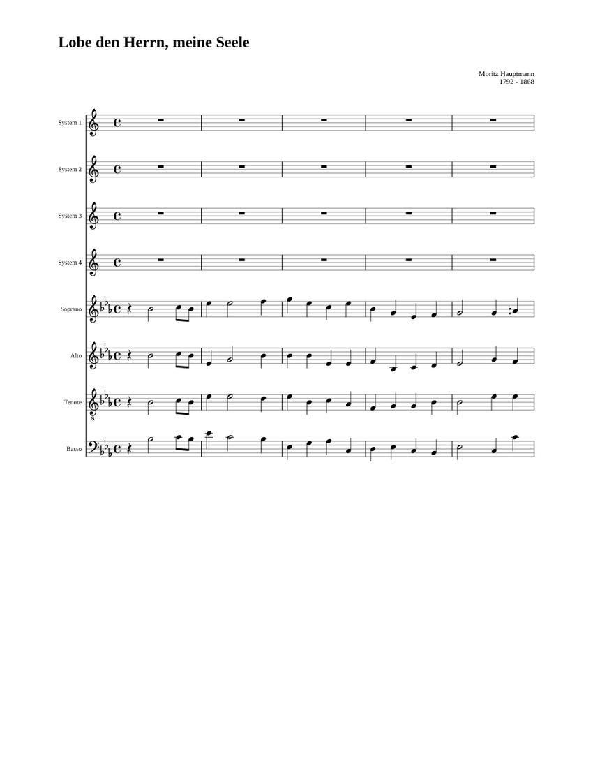 Lobe den Herrn, meine Seele Sheet music | Musescore.com