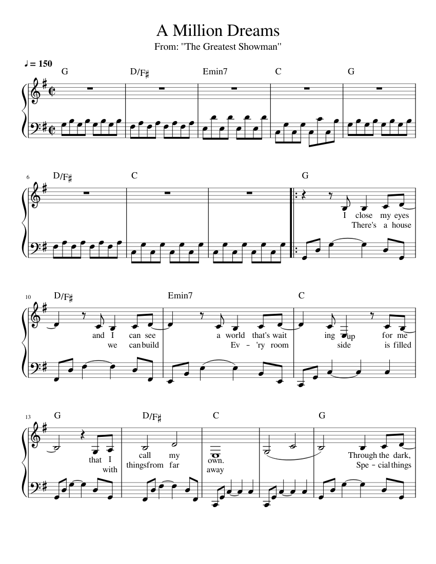 a million dreams chords - slubne-suknie info