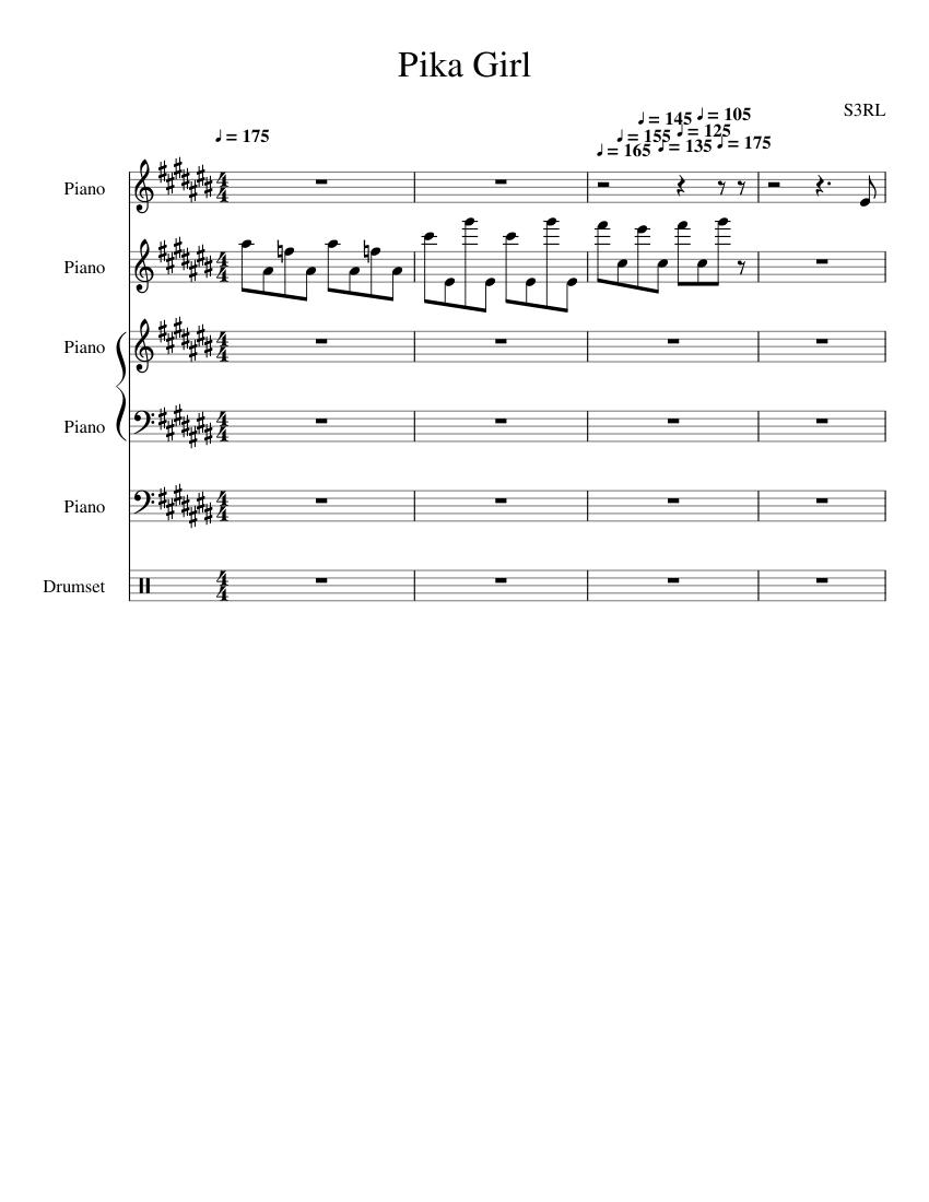 S3RL - Pika Girl - piano tutorial