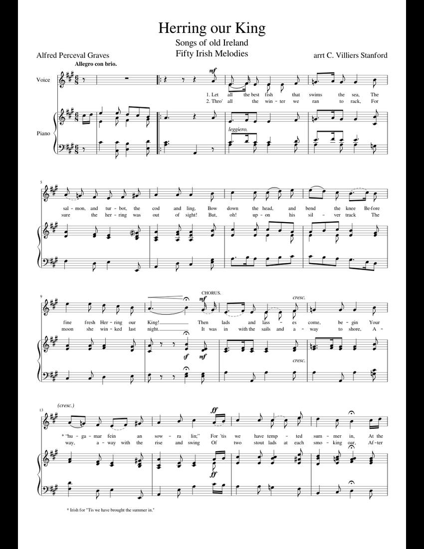 Irish Piano Songs