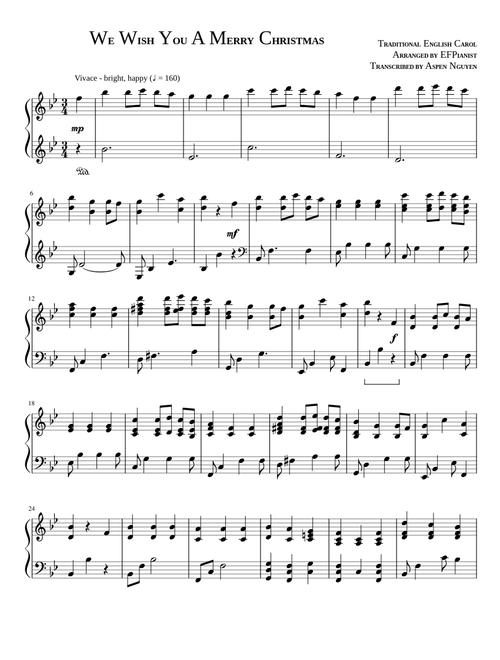 Christmas sheet music - download free