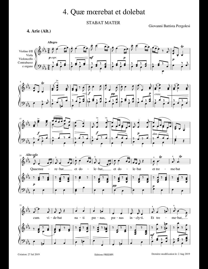 Stabat Mater, No. 4: Quæ mœrebat et dolebat