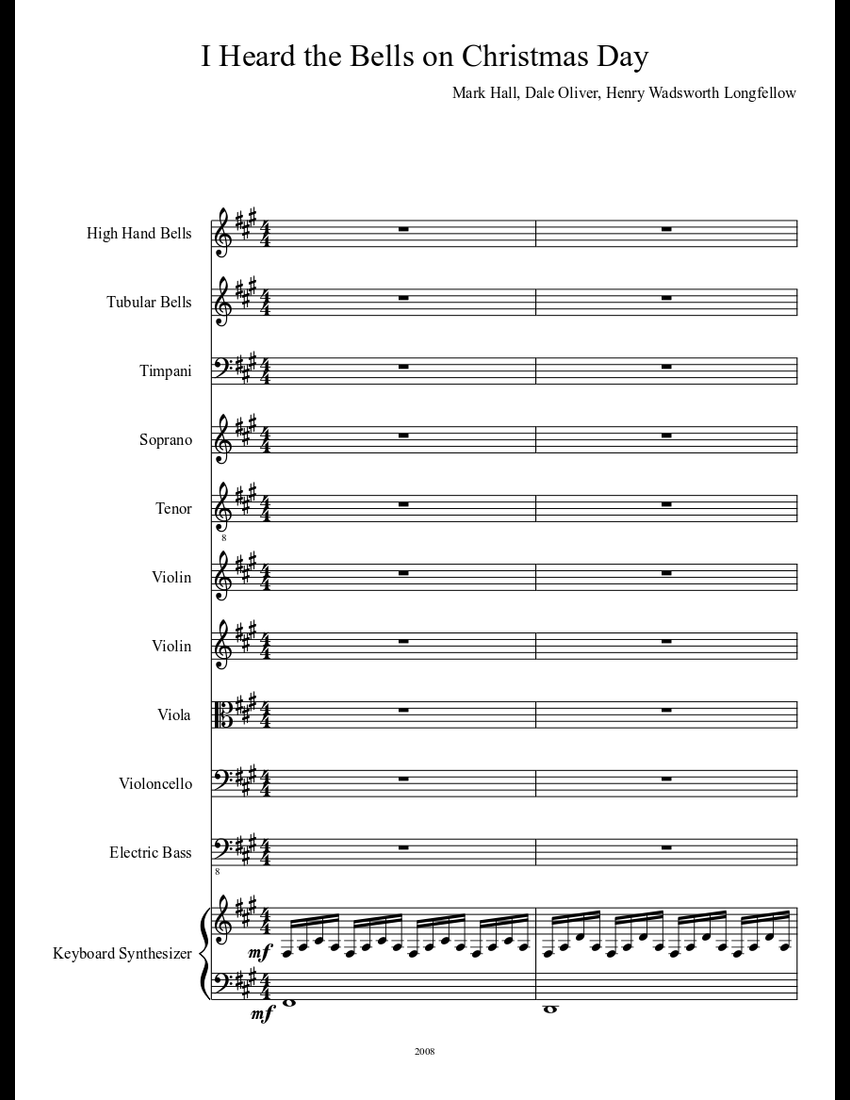 Casting Crowns I Heard The Bells On Christmas Day.I Heard The Bells On Christmas Day Sheet Music Download Free