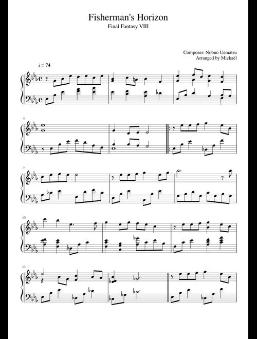 Fisherman's Horizon - Final Fantasy VIII sheet music for