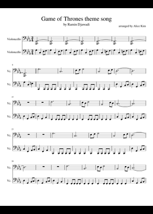 Pirates Of The Caribbean Theme Song Sheet Music For Cello