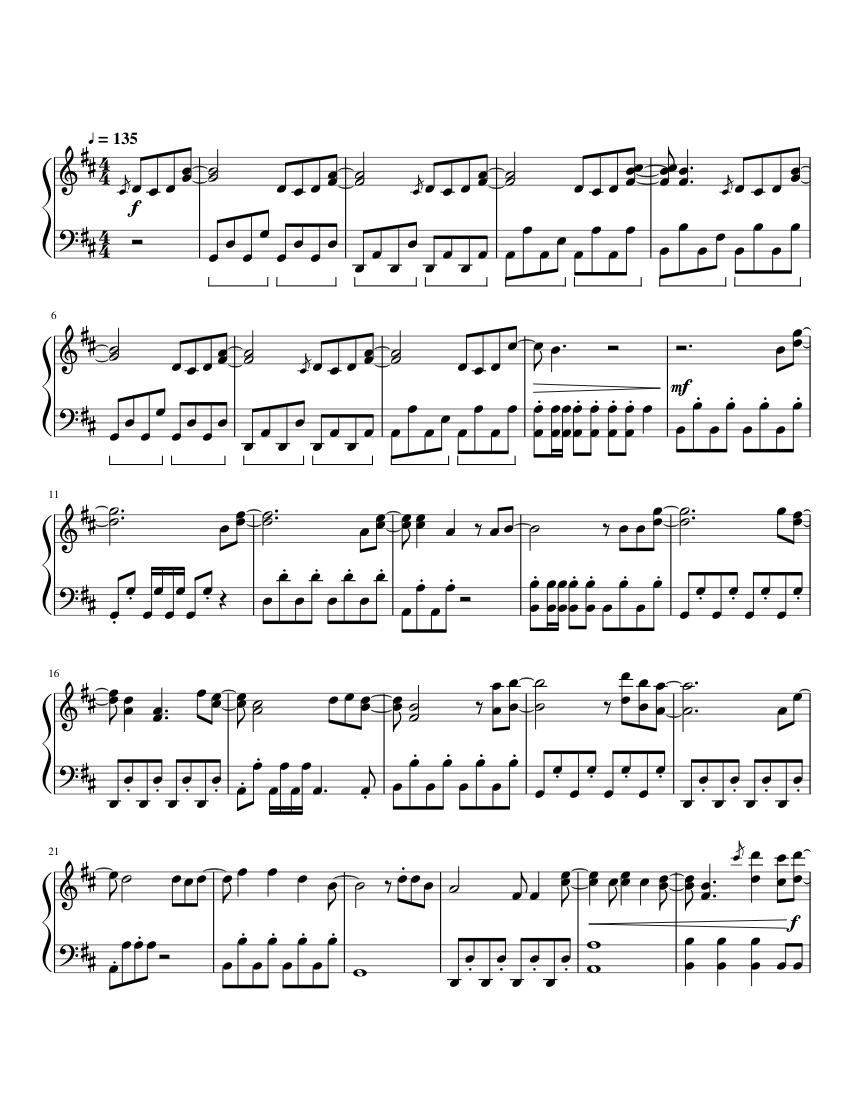 Dragostea din tei (numa numa) piano sheet music for piano, violin.