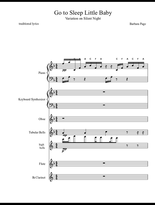 graphic relating to Silent Night Lyrics Printable referred to as Distinctions upon Peaceful Night time (revised 8/18/11) sheet audio