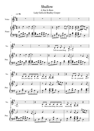 Lady Gaga Sheet Music Free Download In Pdf Or Midi On Musescore Com