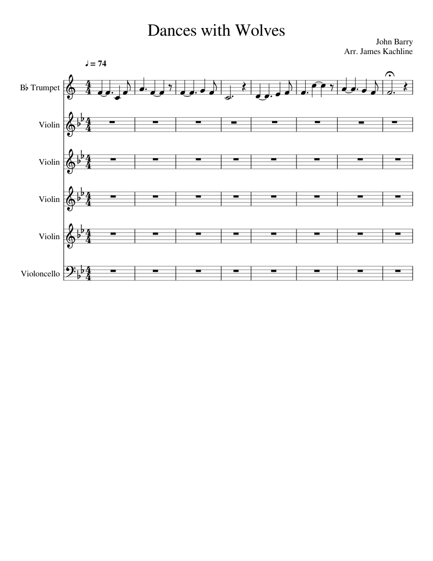 dances with wolves sheet music free