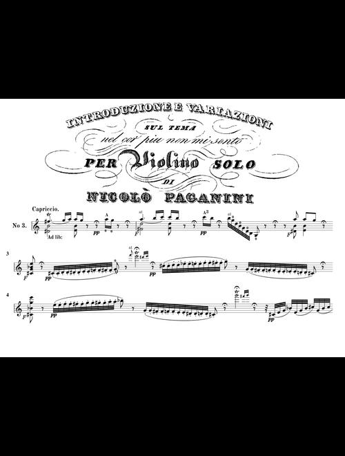 Paganini - Nel cor piu non mi sento  {Professional