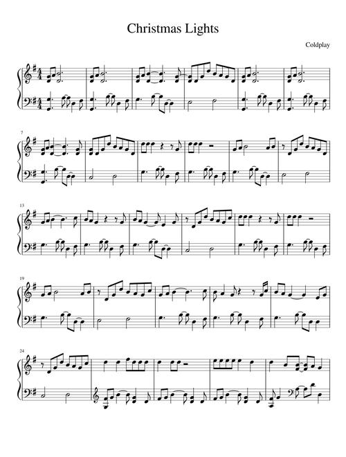 Christmas Lights Sheet Music For Piano Solo Musescore Com