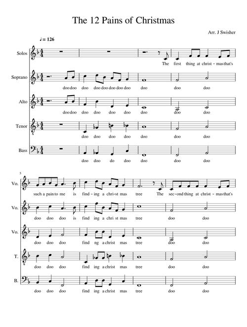 Twelve Pains of Christmas Sheet music