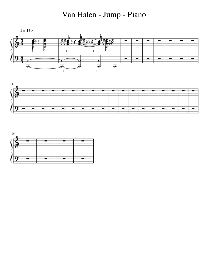 Van Halen Jump Piano Piano Tutorial