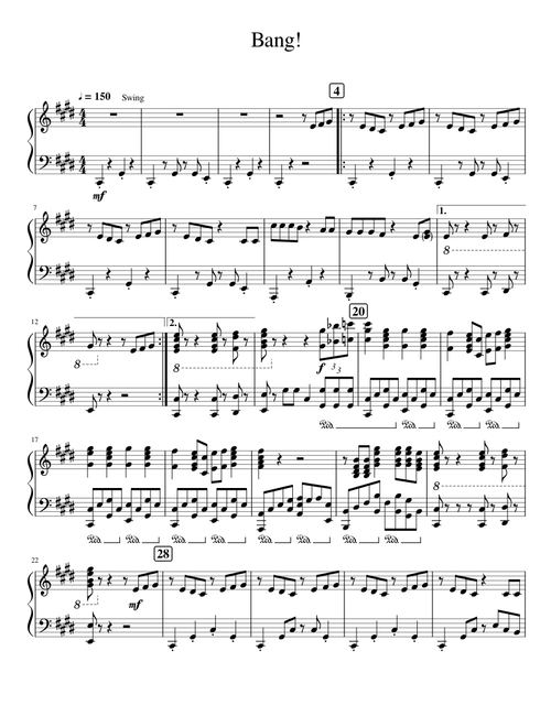 Birthday Party Ajr Clarinet Sheet Music Music notation created and shared online with flat. birthday party ajr clarinet sheet music