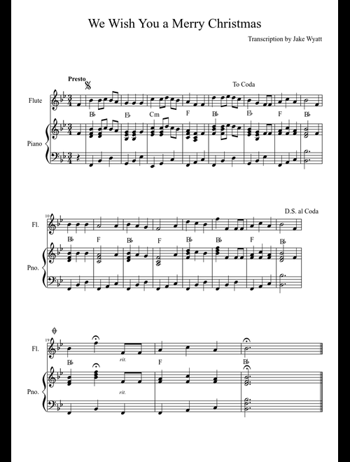 Wish You Merry Christmas Piano Notes.We Wish You A Merry Christmas Sheet Music Download Free In