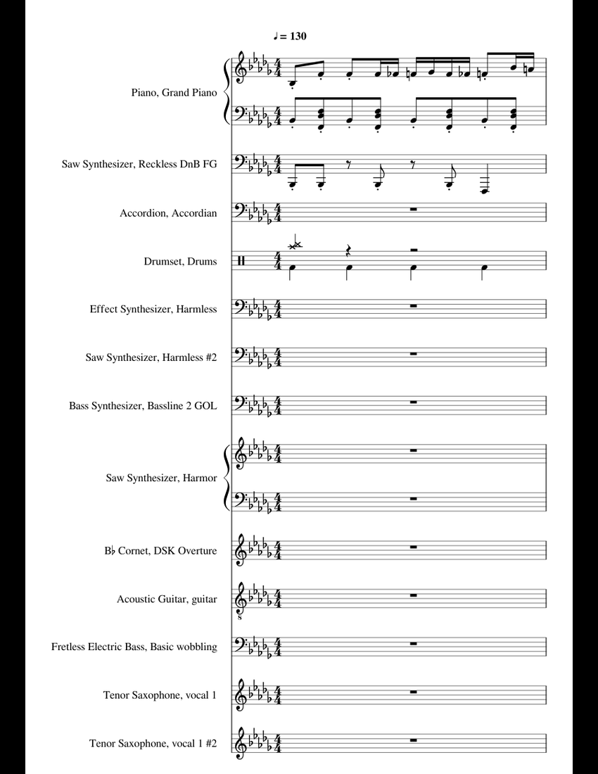 Hello Neighbor Get Out! sheet music for Piano, Synthesizer