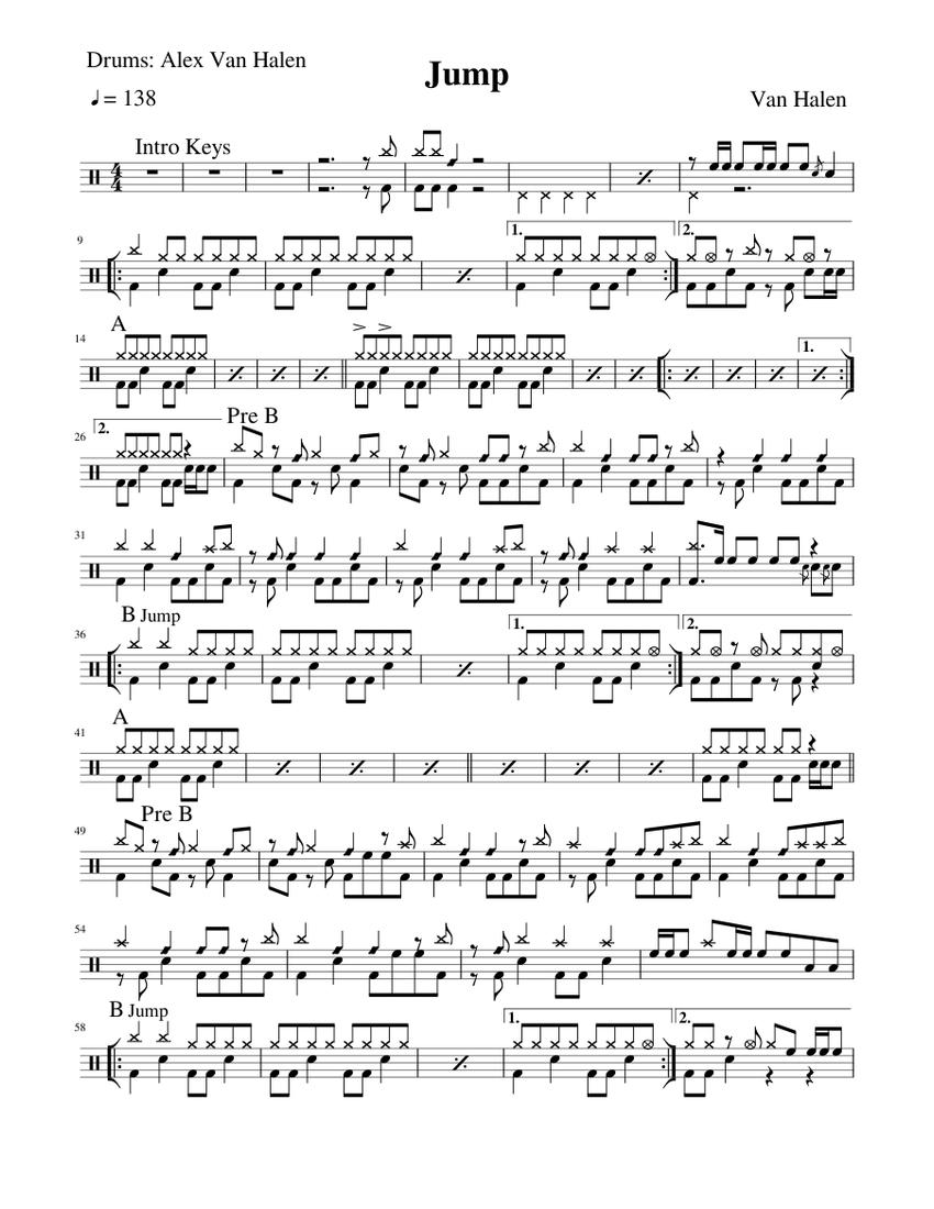 Jump Van Halen Piano Tutorial