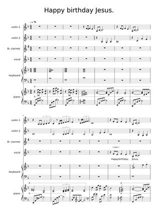 Sheet Music For Strings Voice With 6 Instruments Musescore Com