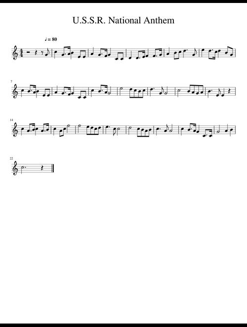 image relating to National Anthem Lyrics Printable named U.S.S.R. Nationwide Anthem Alto Sax sheet new music for Alto