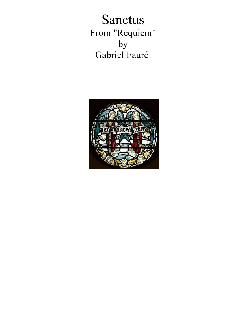 Sanctus from Fauré Requiem sheet music for Voice, Trumpet