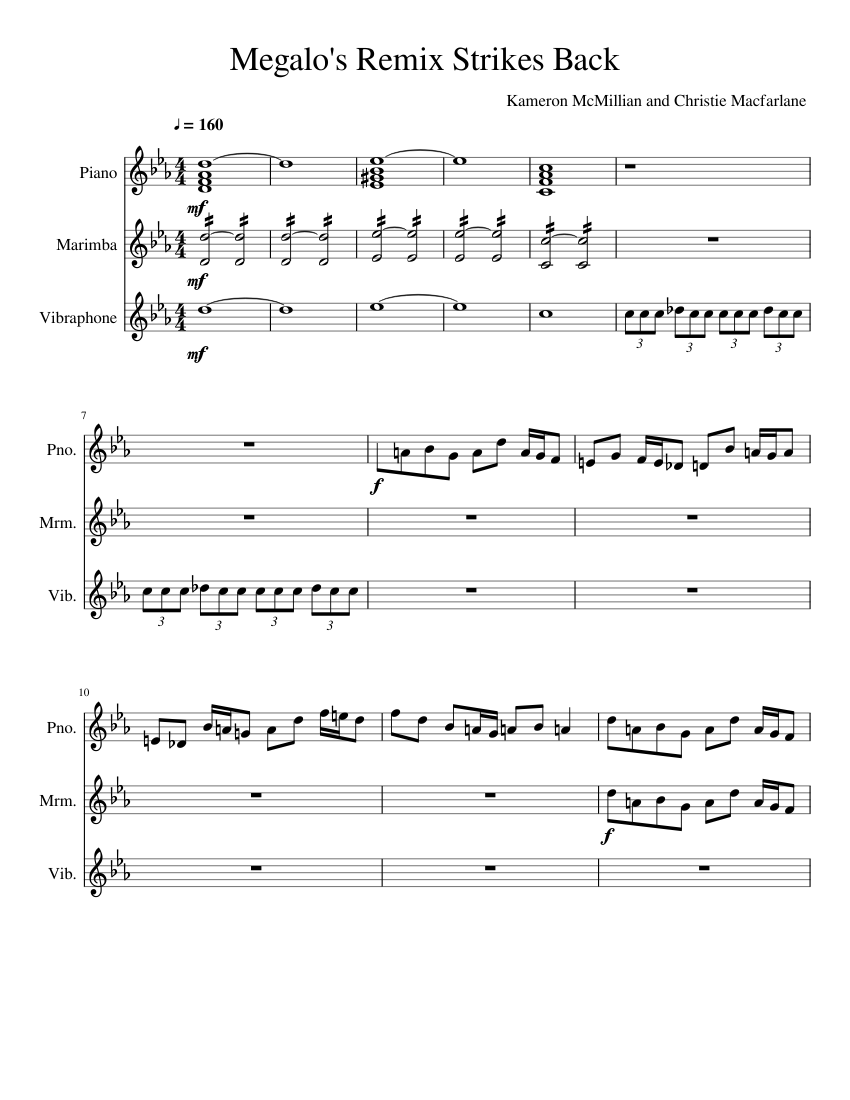 Megalo s Remix Strikes Back Sheet music for Piano