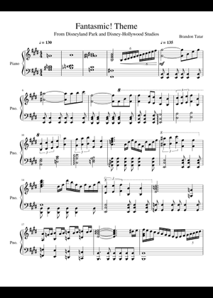picture relating to Disney Piano Sheet Music Free Printable named Disney Medley sheet tunes for Piano down load totally free inside PDF or MIDI
