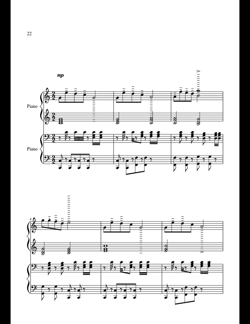 Jingle_Bells_Christmas_songs sheet music for Piano download free in PDF or MIDI