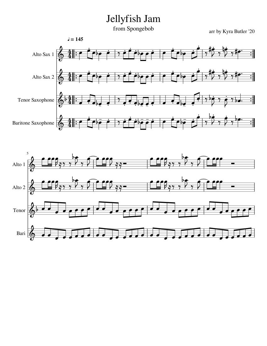 Jellyfish Jam sheet music for Alto Saxophone, Tenor