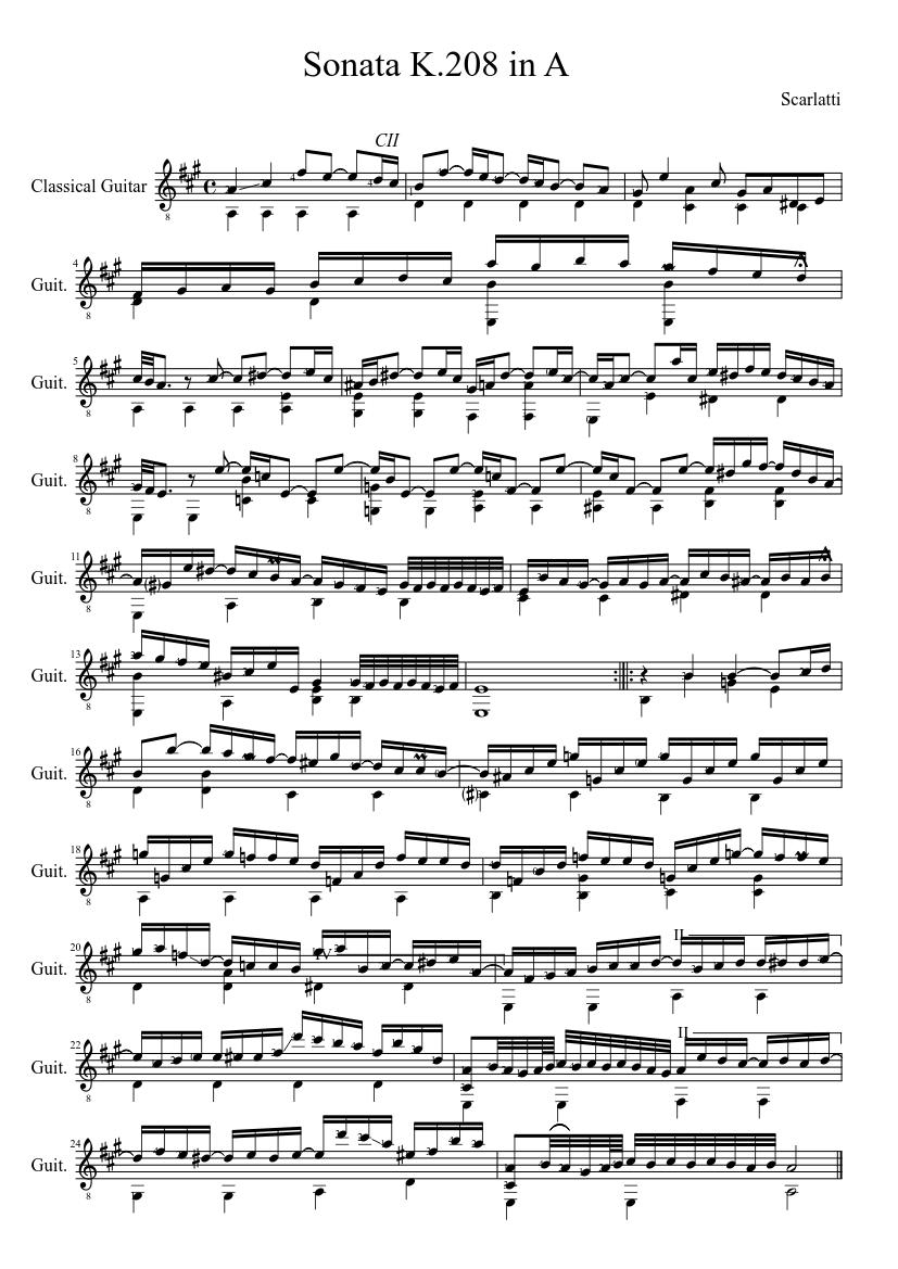 Scarlatti K 208 Download