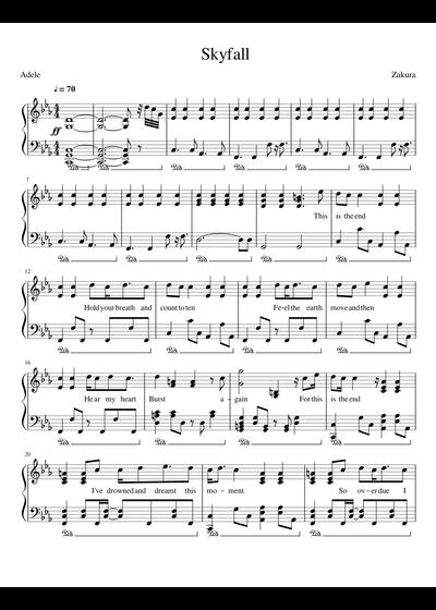 Adele Sheet Music Free Download In Pdf Or Midi On Musescorecom