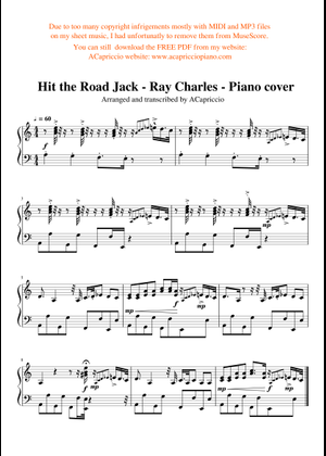 Ray Charles sheet music free download in PDF or MIDI on