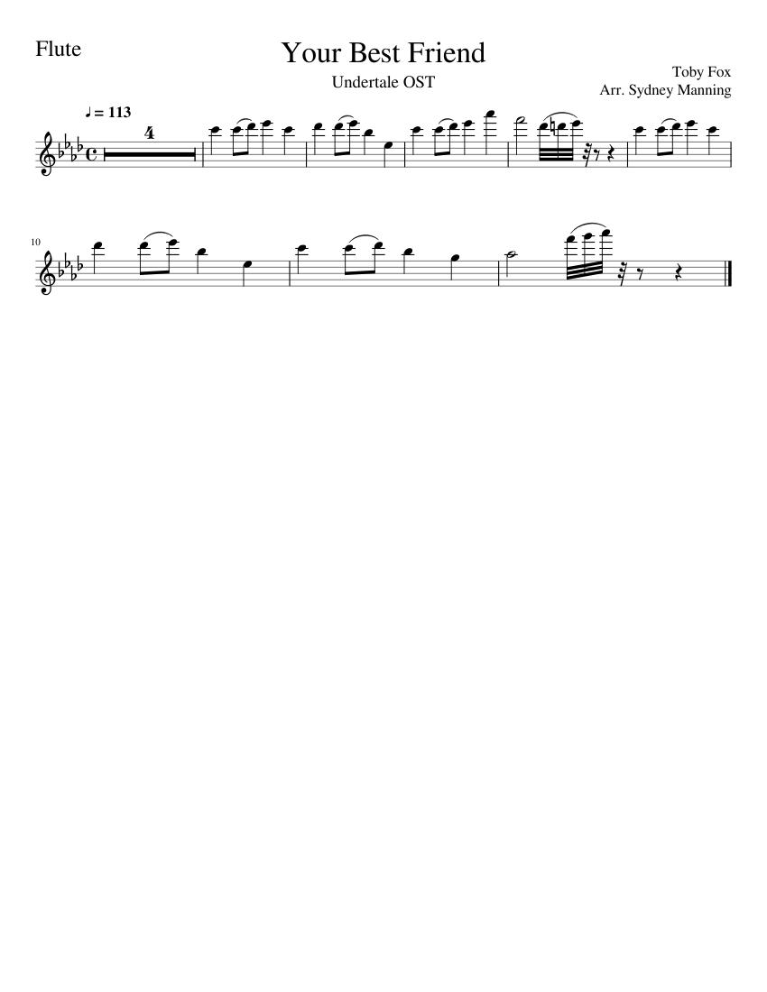 Your best friend sheet music flute