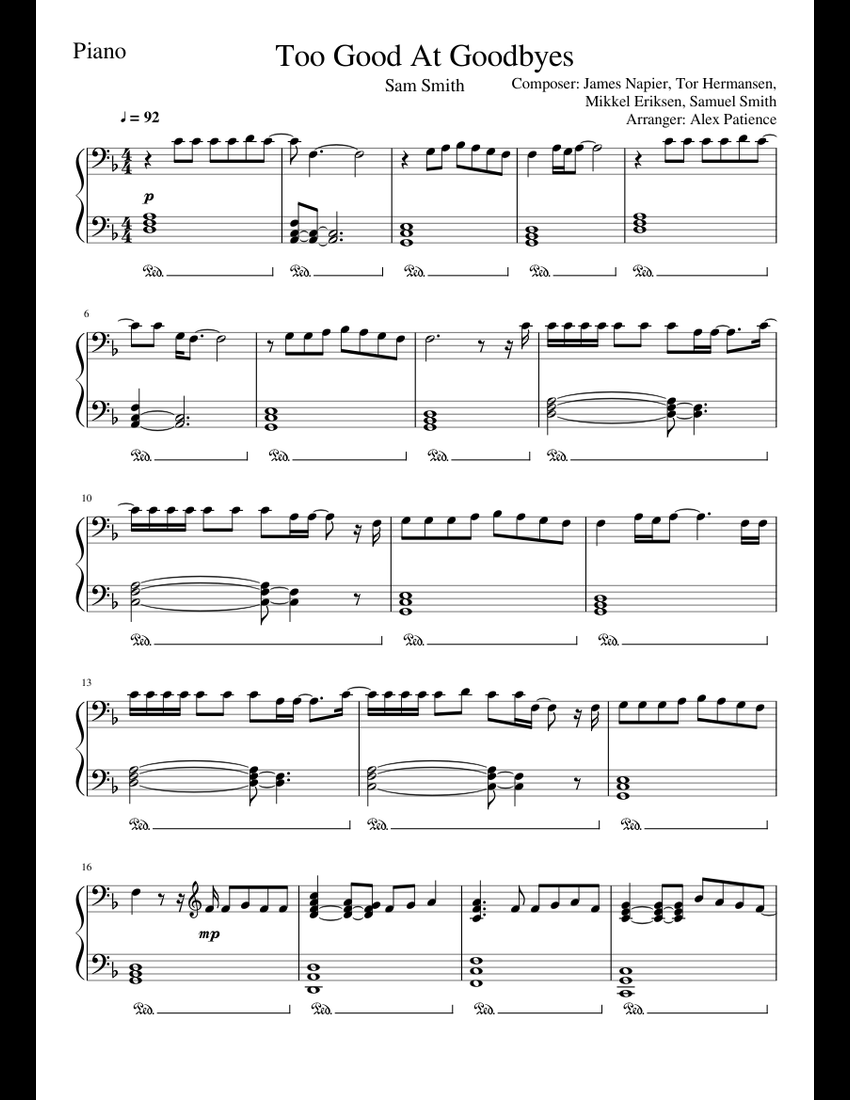 tell me that you love me james smith piano sheet music