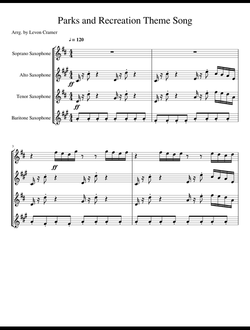 Parks and Recreation Theme Song sheet music for Soprano