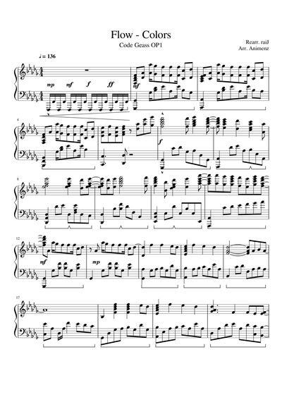 Flow Sheet Music Free Download In Pdf Or Midi On Musescore Com